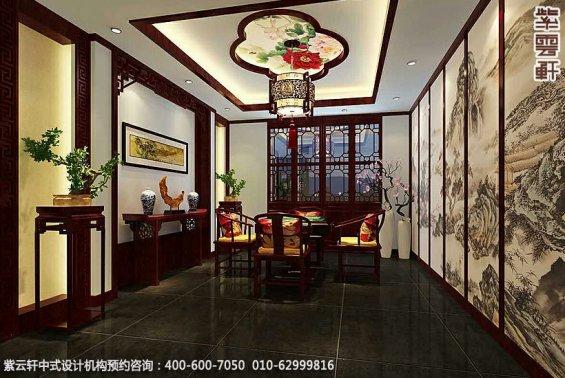 私人艺术会所古典中式装修效果图,会所麻将室中式设计图