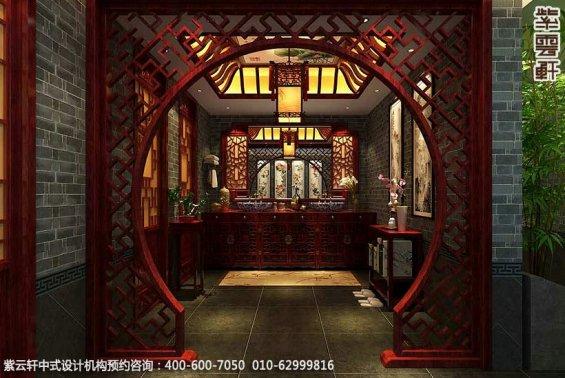 私人艺术会所古典中式装修效果图,会所洗手区中式装修图