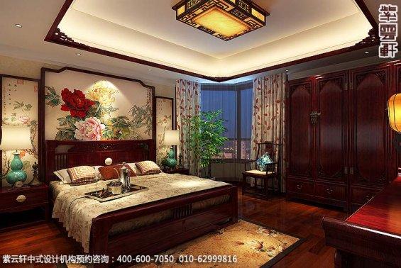 古典中式装修北京大宅精装改造案例赏析,中式住宅主卧设计图