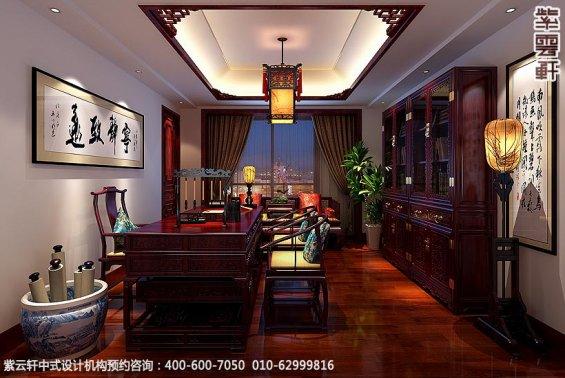 古典中式装修北京大宅精装改造案例赏析,中式住宅书房装修图