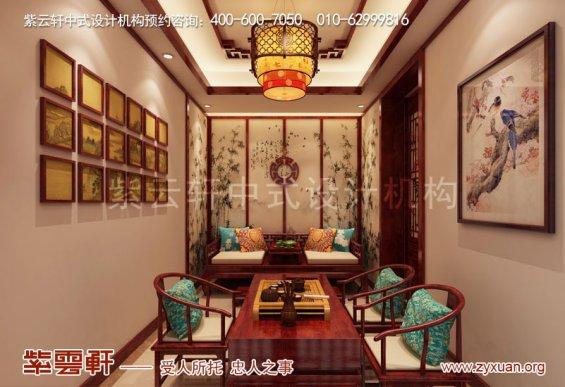 山西晋城现代中式风格房屋装修,茶室中式装修图