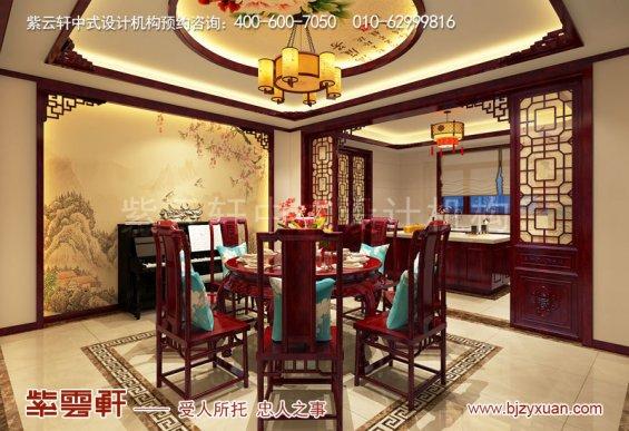 西安现代中式风格别墅装修效果图,餐厅中式设计图