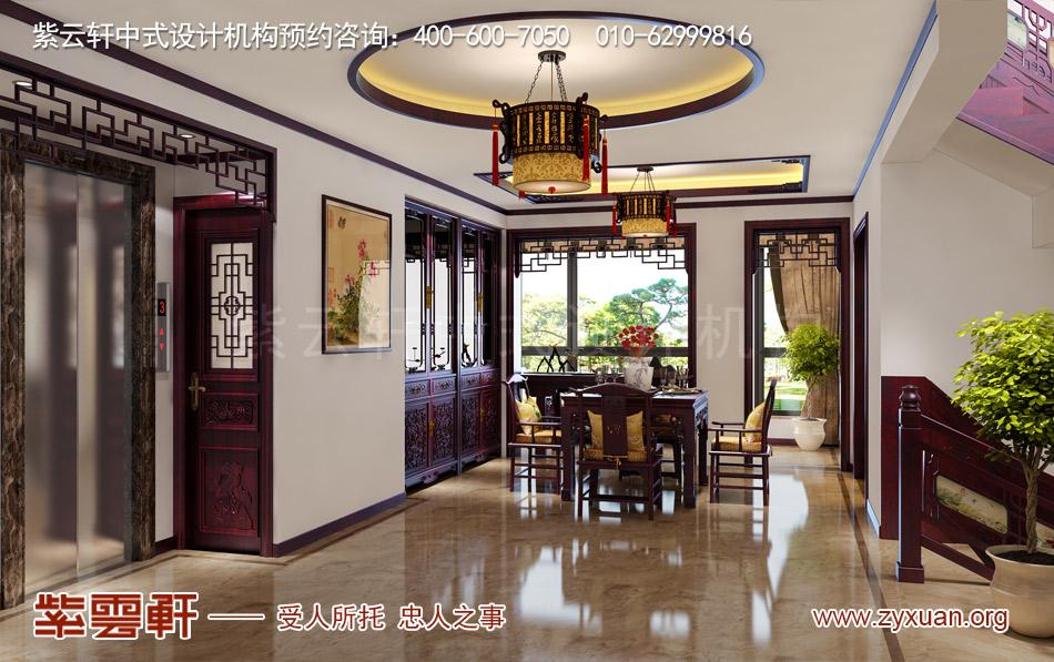 常州别墅现代中式效果图赏析,餐厅现代中式风格装修效果图