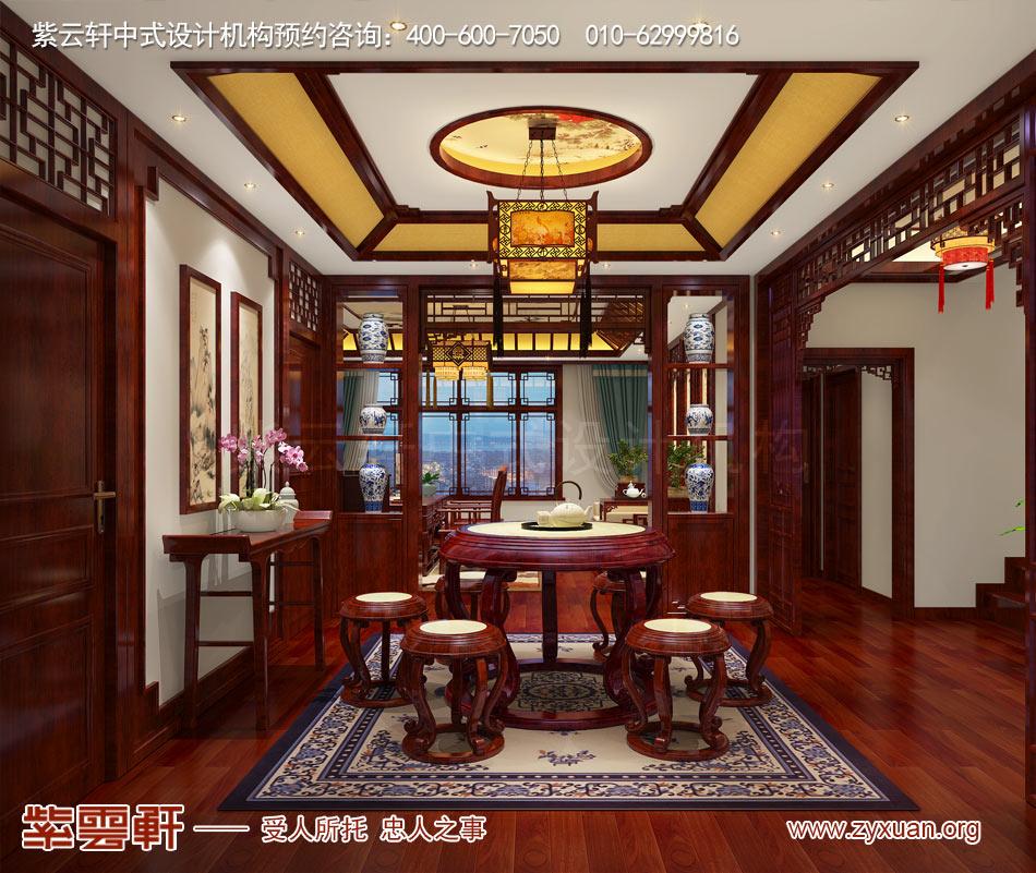 濟南別墅現代中式風格效果圖,別墅休息室現代中式風格