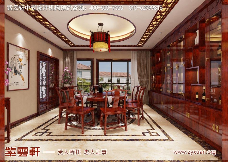 南昌独栋别墅现代中式风格效果图赏析,别墅餐厅现代中式风格效果