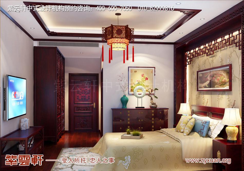 南昌独栋别墅现代中式风格效果图赏析,二层客房现代中式风格效果