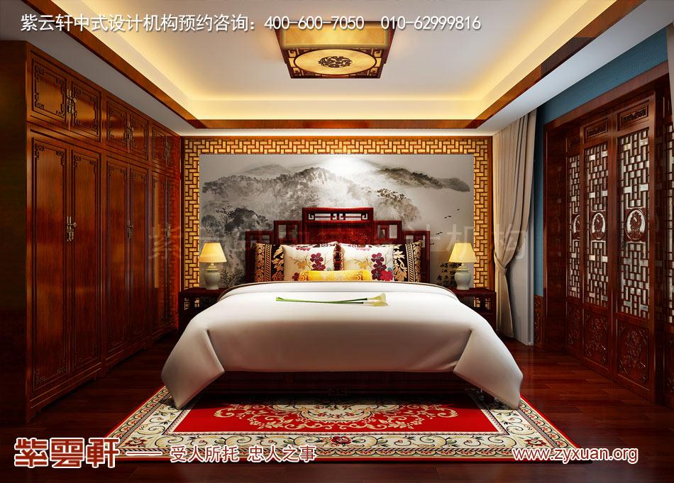 北京传统宫廷风格大平层装修效果图,传统宫廷风格平层主卧装修效