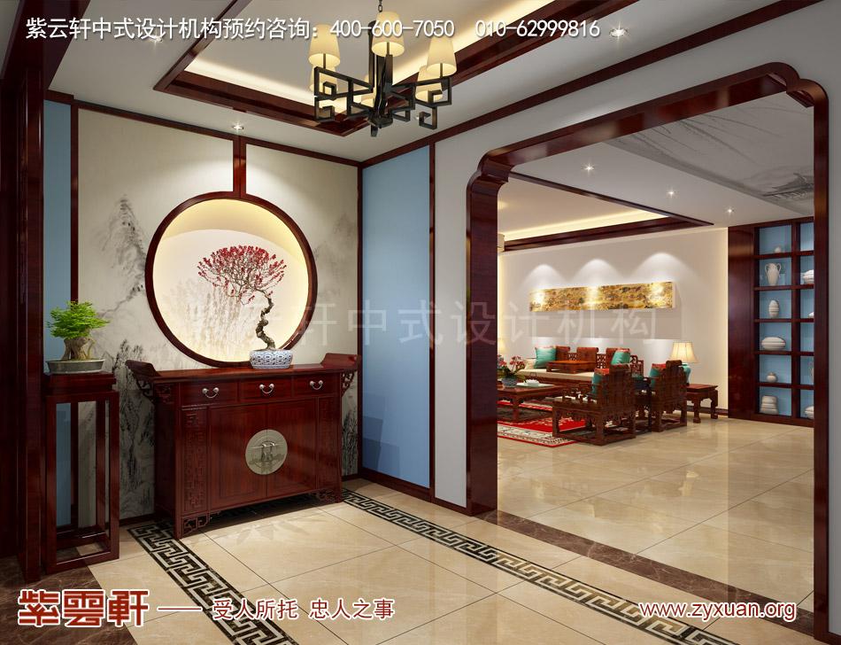 山西吕梁会所现代中式风格私人会所效果图展示,私人会所门厅现代