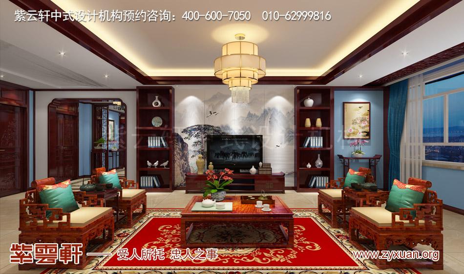 山西吕梁会所现代中式风格私人会所效果图展示,接待室现代中式风