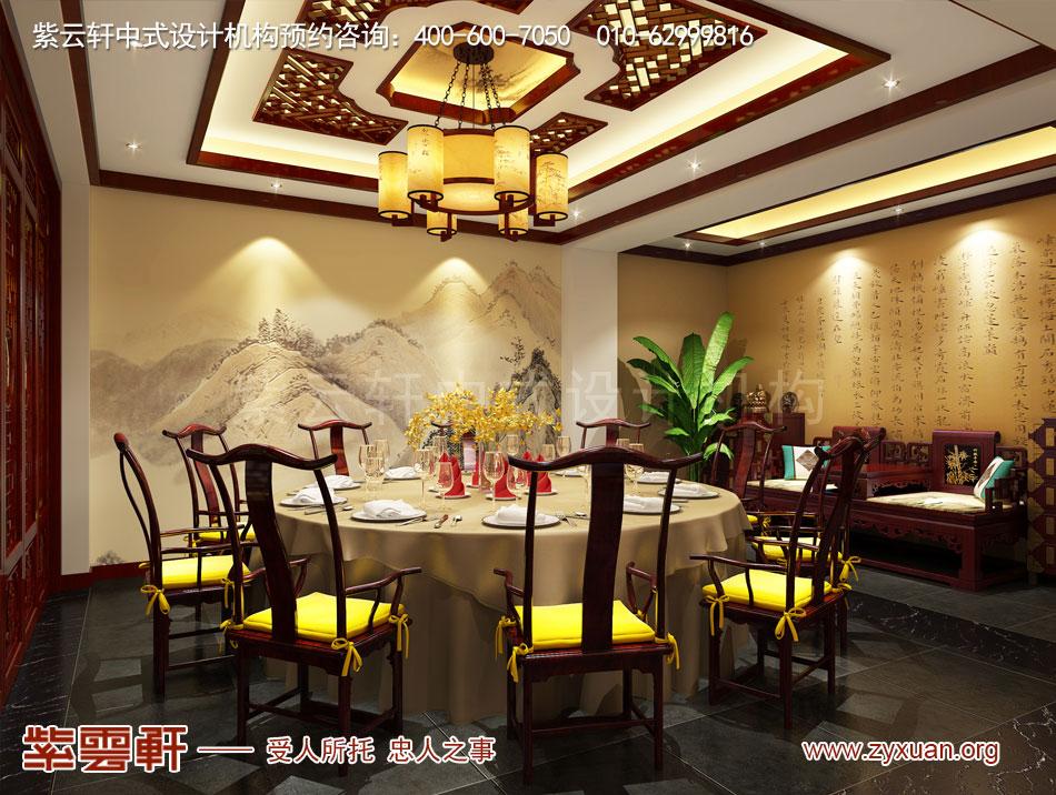 山西吕梁会所现代中式风格私人会所效果图展示,餐厅大包间现代中