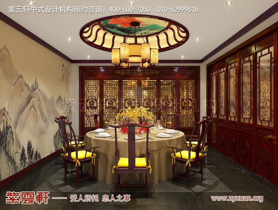 山西吕梁会所现代中式风格私人会所效果图展示,餐厅小包间现代中