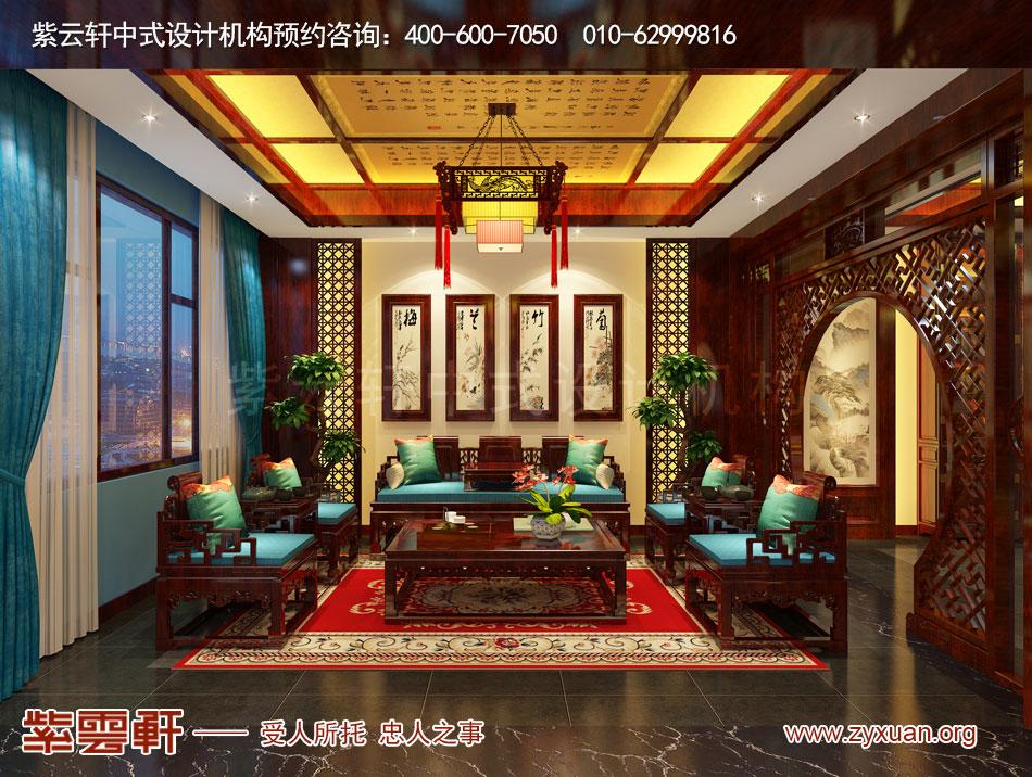 山西吕梁会所现代中式风格私人会所效果图展示,董事长起居室现代