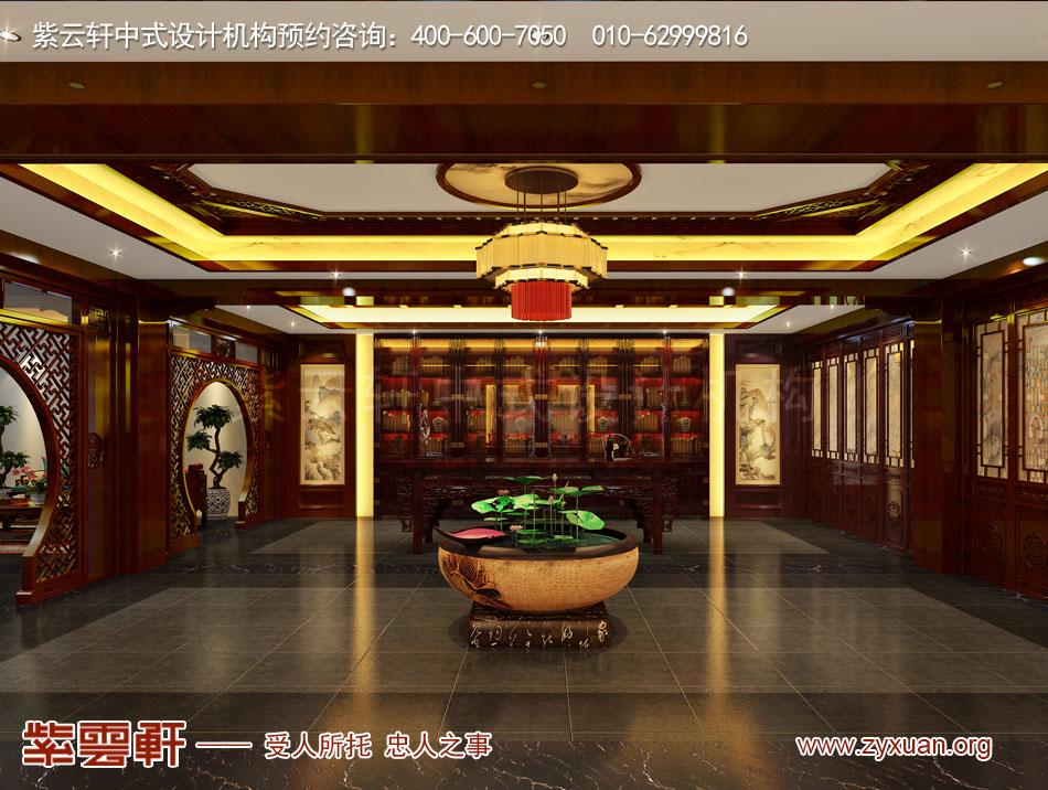 山西吕梁会所现代中式风格私人会所效果图展示,董事长办公室现代