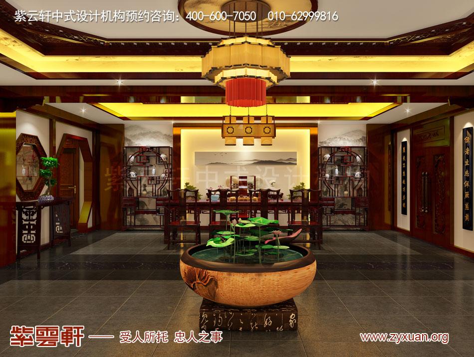山西吕梁会所现代中式风格私人会所效果图展示,茶室现代中式风格