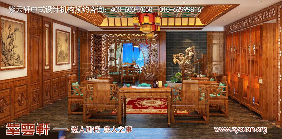 邓总传统古典中式别墅装修效果图,传统古典中式别墅中堂装修效果