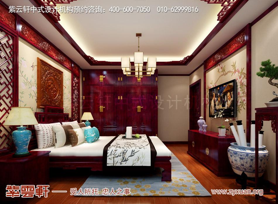 石家庄简约古典中式风格平层装修效果图案例欣赏,客卧简约古典中