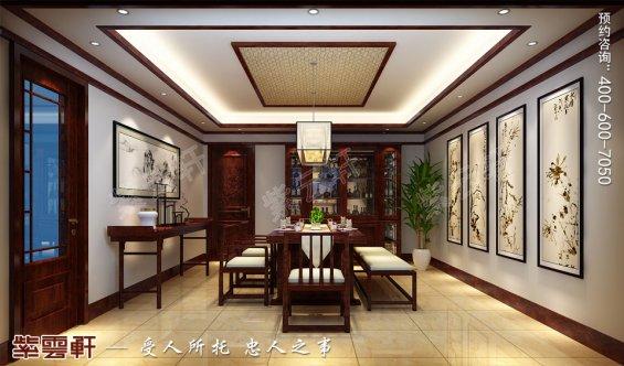 北京平层现代中式风格装修效果图,餐厅中式装修效果图