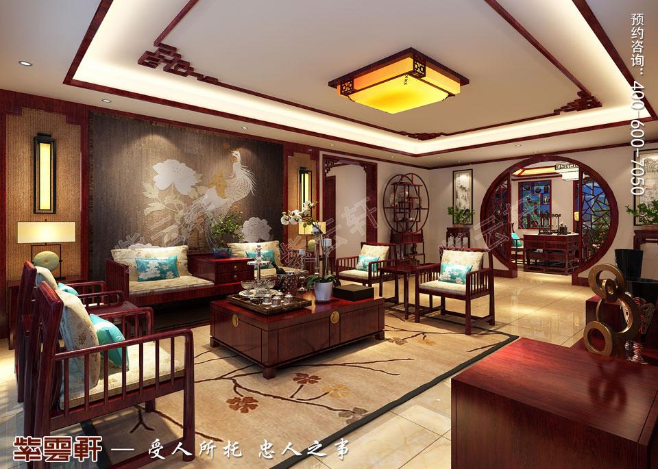 北京平层现代中式风格装修效果图,客厅中式装修效果图