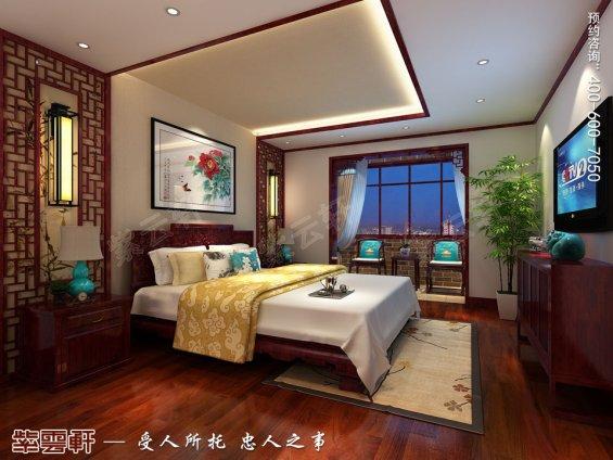 北京平层现代中式风格装修效果图,老人房中式装修效果图