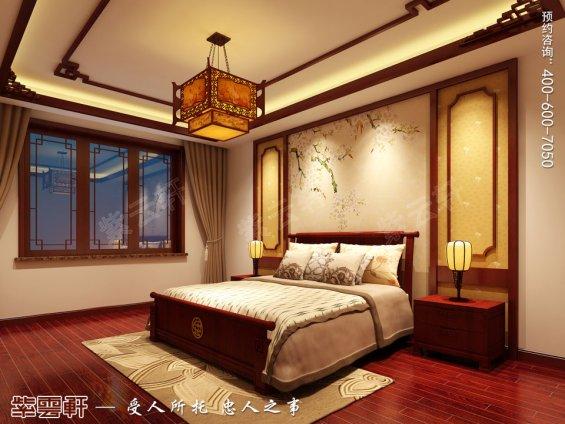 北京平层现代中式风格装修效果图,次卧中式装修效果图