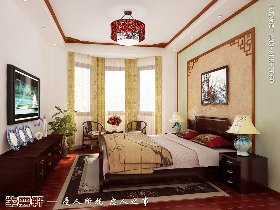 苏州精品住宅简约古典中式设计案例,主卧中式装修效果图
