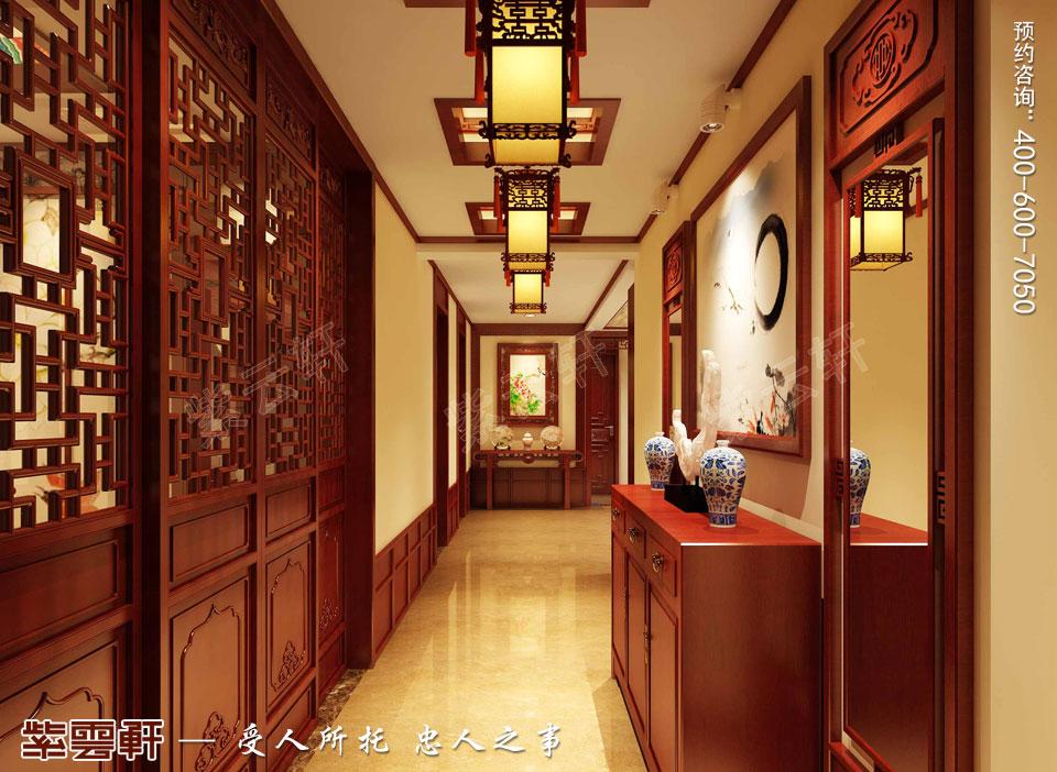 吉林长春古典中式设计精品住宅案例效果图欣赏,玄关中式装修