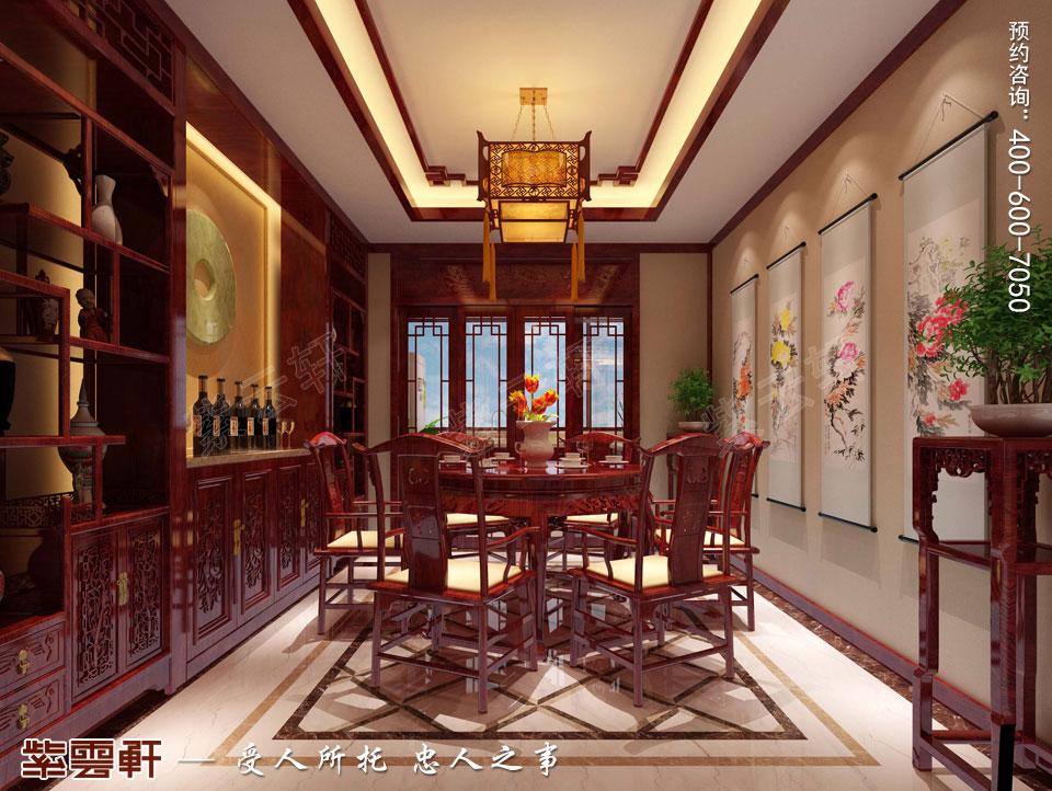 山西晋城现代中式装修效果图,餐厅中式装修图