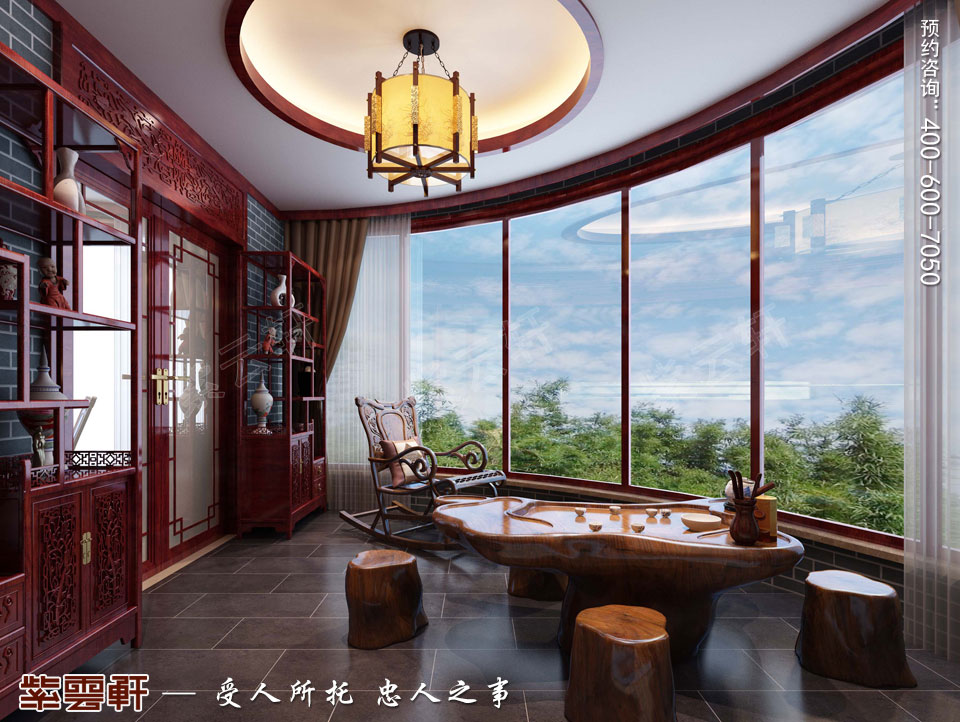 山西晋城现代中式装修效果图,阳台中式装修设计图图片