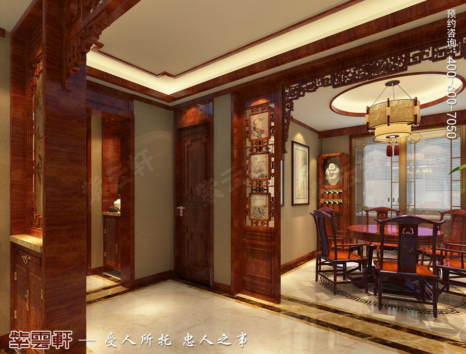 唐山滦南现代中式装修风格,玄关中式风格装修图