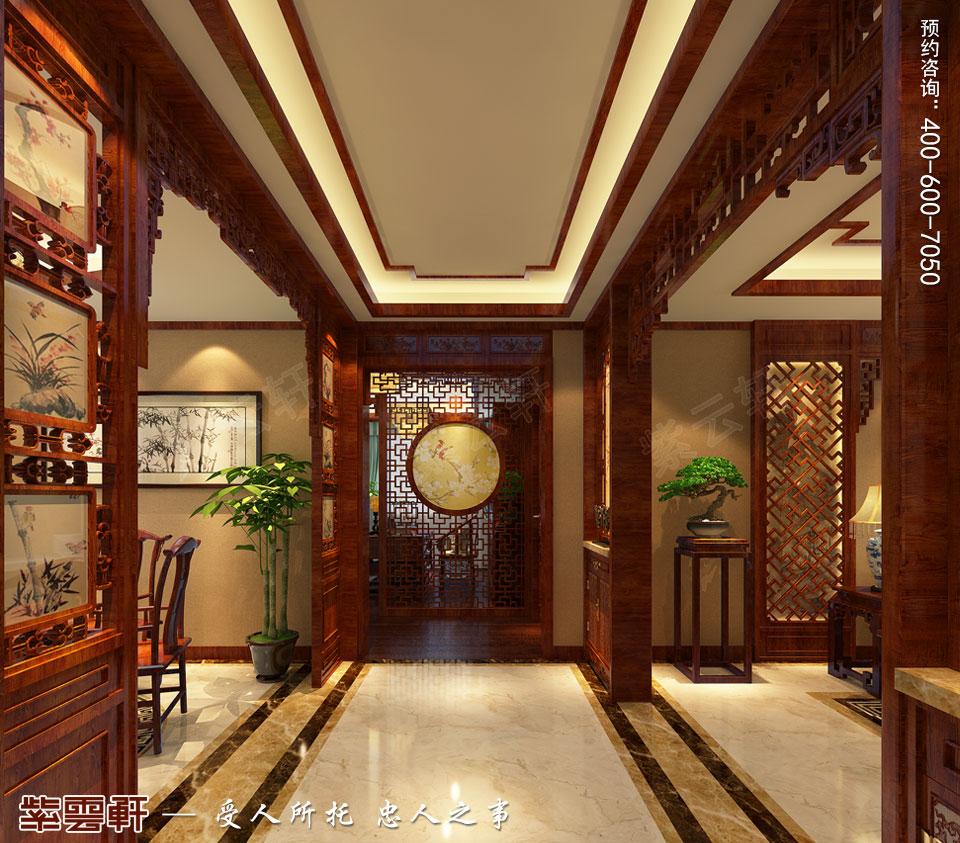 唐山滦南现代中式装修风格,走廊中式装修效果图