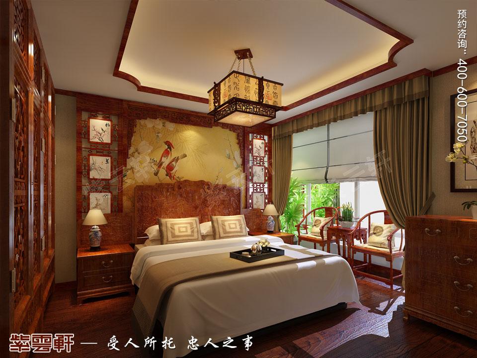 唐山滦南现代中式装修风格,主卧中式风格装修图