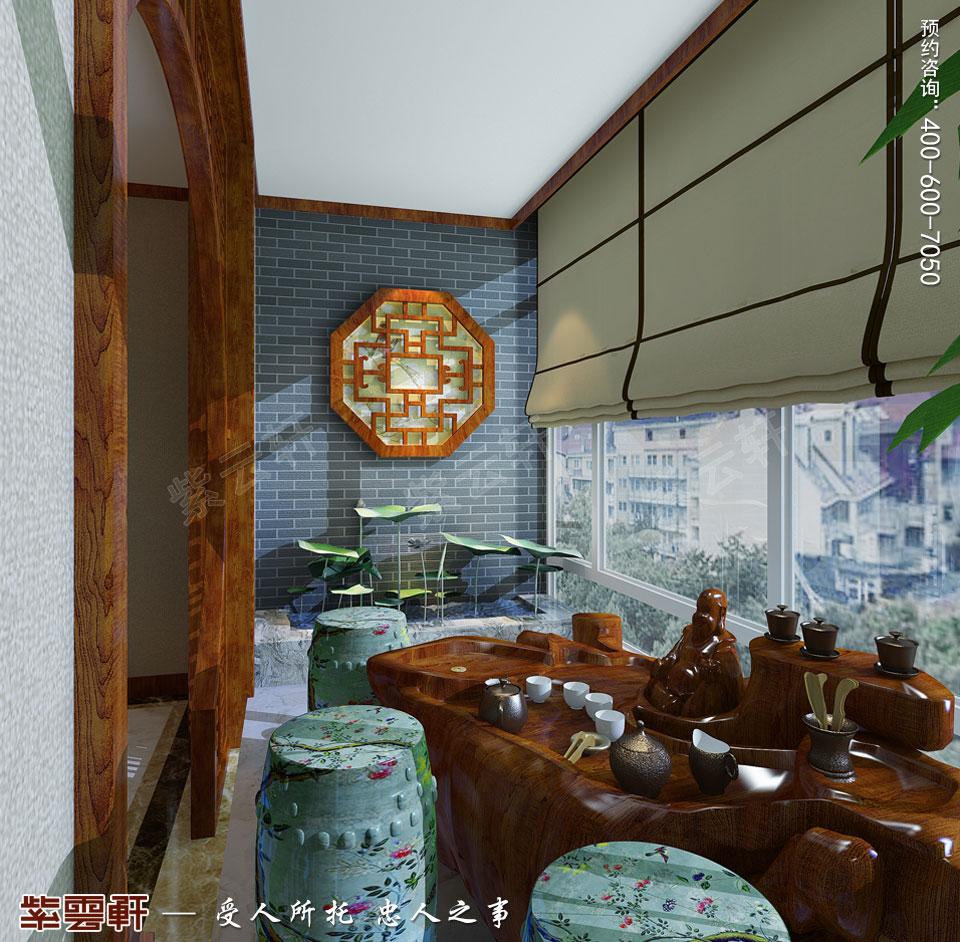 唐山滦南现代中式装修风格,阳台中式风格设计图