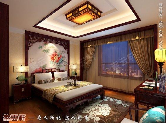 北京中式古典风格平层大宅装修效果图,子女房中式装修图