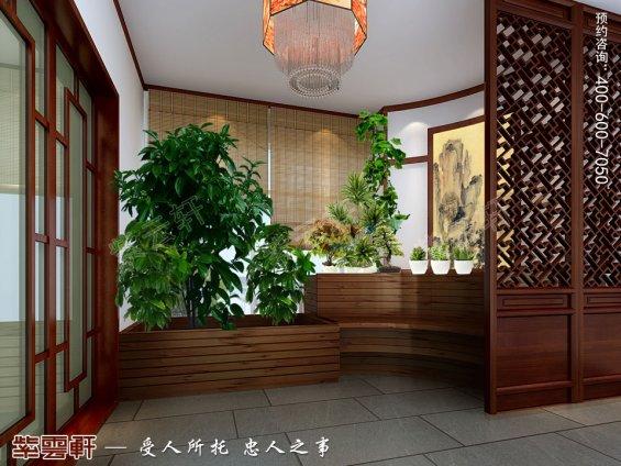 深圳平层住宅简约中式装修设计效果图,入户中式装修设计图