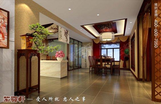 深圳平层住宅简约中式装修设计效果图,餐厅中式风格装修图