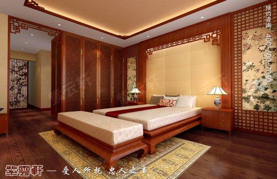 深圳平层住宅简约中式装修设计效果图,卧室中式装修图