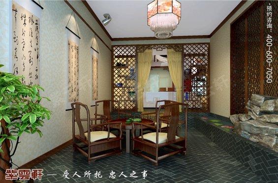 深圳平层住宅简约中式装修设计效果图,茶室中式设计图