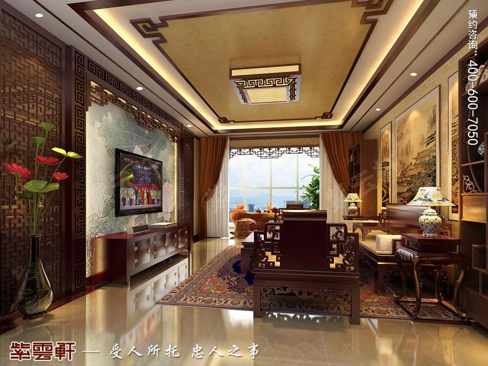 怀柔平层现代中式装修效果图,客厅中式装修效果图