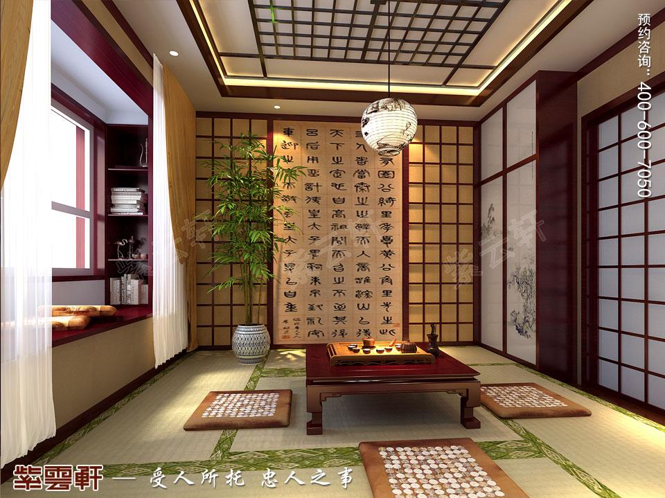 怀柔平层现代中式装修效果图,茶室中式装修效果图