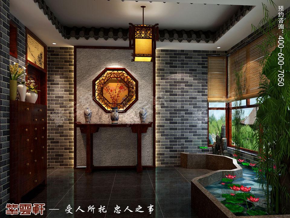 精品住宅简约古典中式风格装修效果图,门厅中式风格装修效果图