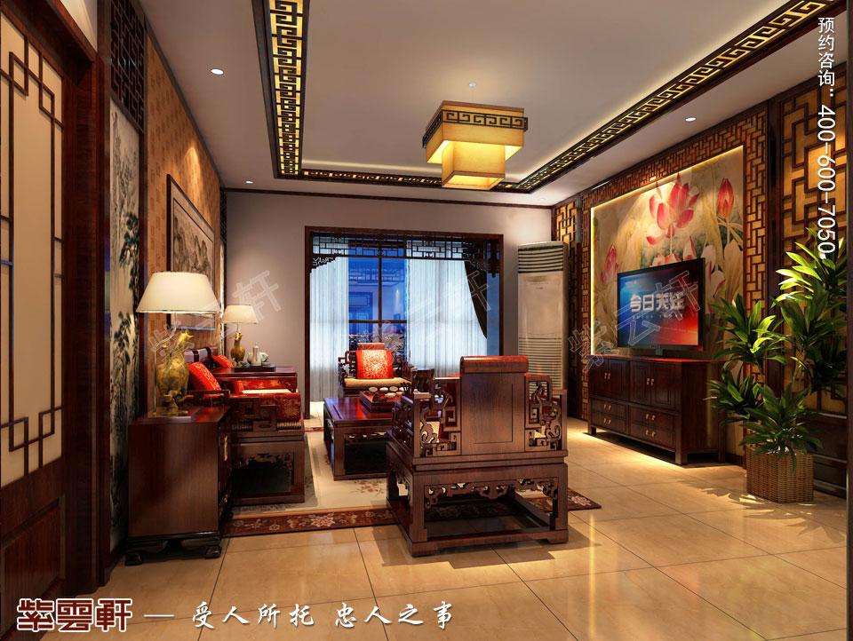 精品住宅简约古典中式风格装修效果图,客厅中式装修效果图