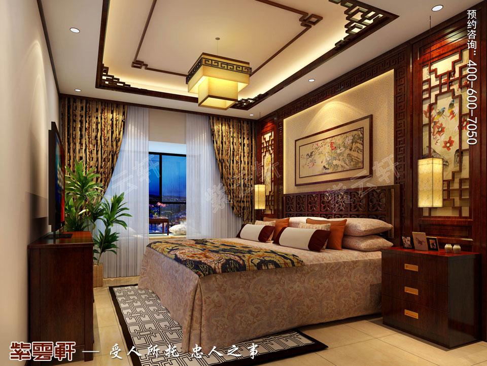精品住宅简约古典中式风格装修效果图,主卧室中式风格设计图
