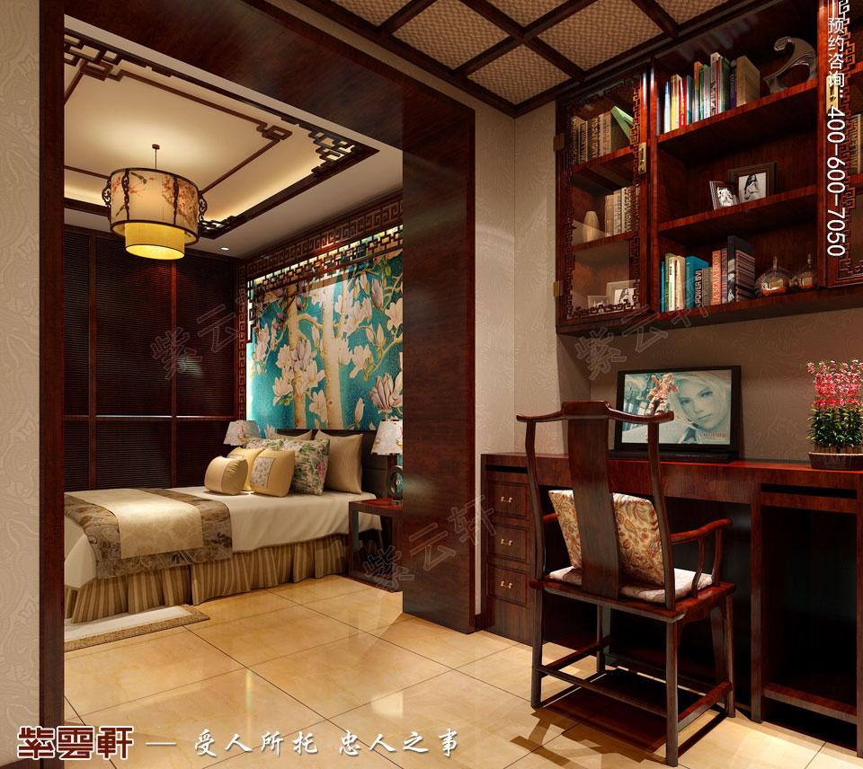 精品住宅简约古典中式风格装修效果图,次卧室中式设计效果图