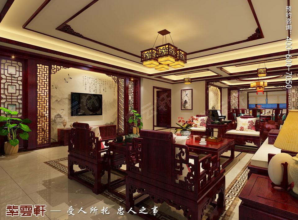 西安现代简约中式装修效果图,客厅中式风格装修效果图