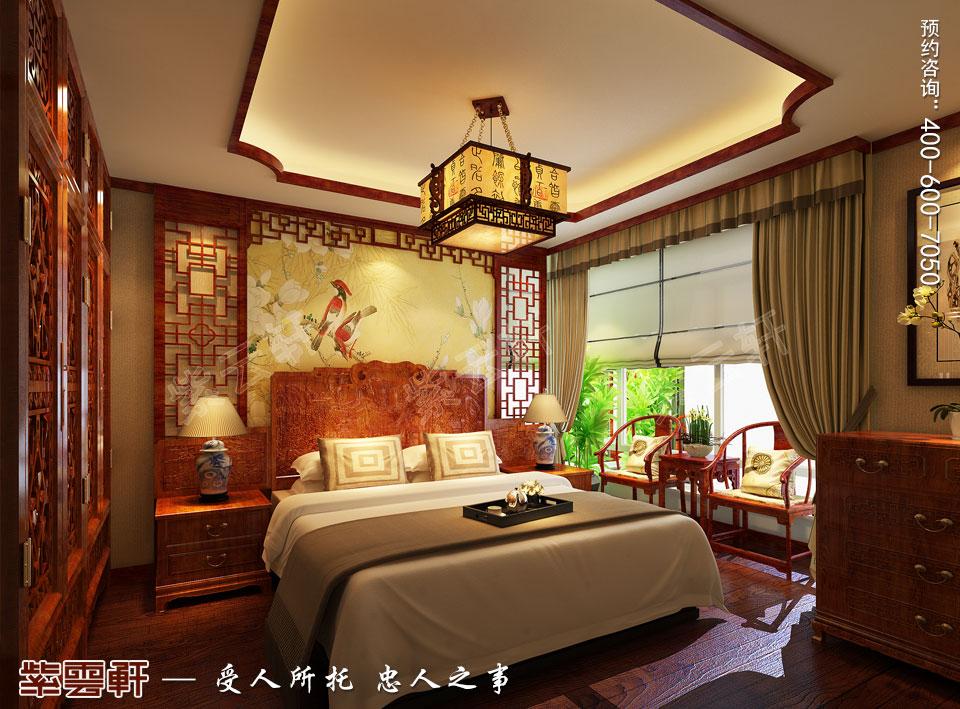 西安现代简约中式装修效果图,客房中式设计图