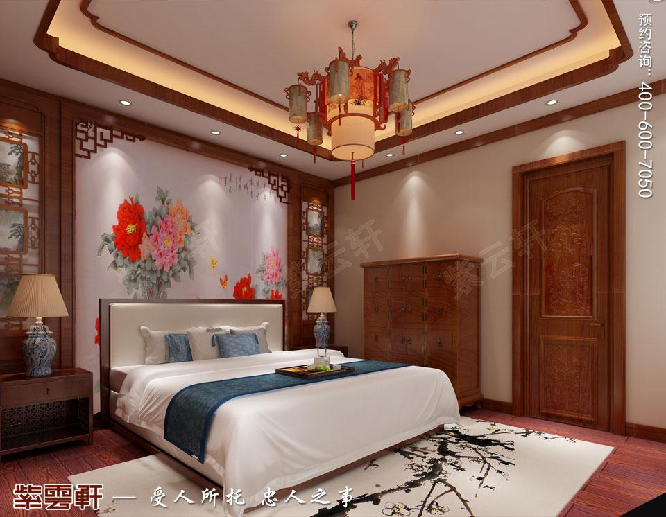 哈尔滨豪华大宅传统中式风格装修,女儿房中式装修图