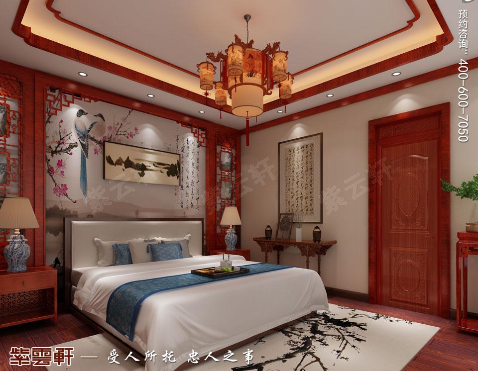 哈尔滨豪华大宅传统中式风格装修,次卧中式装修效果图