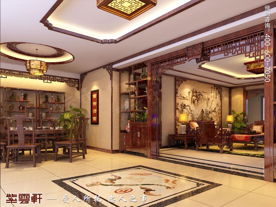 河北保定洋房现代中式装修图片,餐厅中式装修