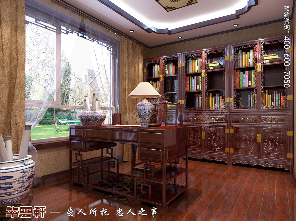 河北保定洋房现代中式装修图片,书房中式装修设计图