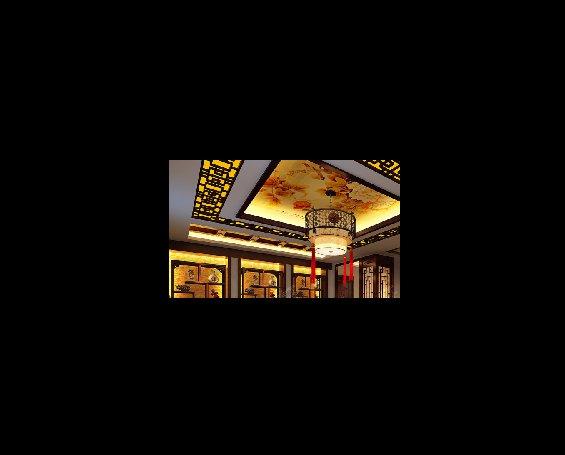 丹东大平层住宅复古中式设计装修效果图,餐厅中式设计图